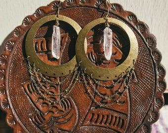 Goddess of Quartz Earrings