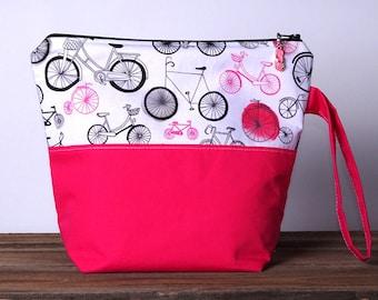 Project Bag, Knitting Project Bag, Knitting Bag, Knitting Bag Zipper, Zippered Project Bag, Yarn Tote