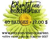 40 badges varied