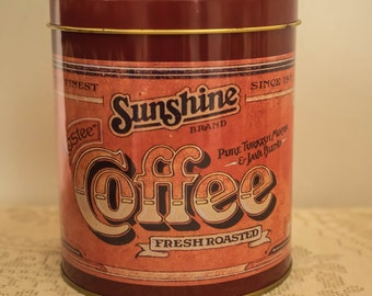 Vintage SUNSHINE Brand Coffee Tin Canister