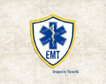 SVG Digital Design EMT Emblem Instant Download -  Includes Svg, png, jpeg, dxf, & eps.