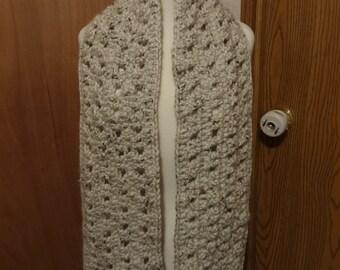 Handmade Aspen Tweed Yarn Crochet Scarf.