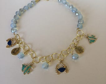 Beaded Charm Seaside Necklace