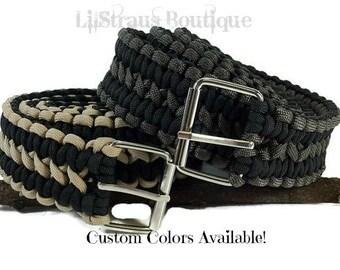 Men's Paracord Belt - Custom Handmade / Paracord Belt / Men's Belt / Woven Belt / Work Belt / Custom Belt / Heavy Duty Belt / Survival Belt