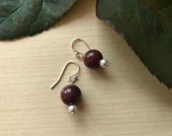 Mookite handmade earrings with sterling silver findings