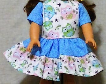 Hoot Hoot Owl dresses for American Girl and Cabbage Patch dolls