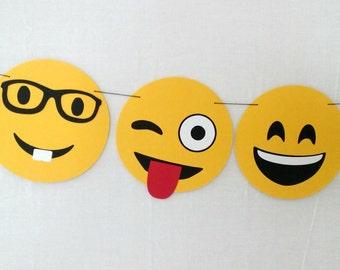 Emoji Garland Banner - party supplies - decorations - Emoji party