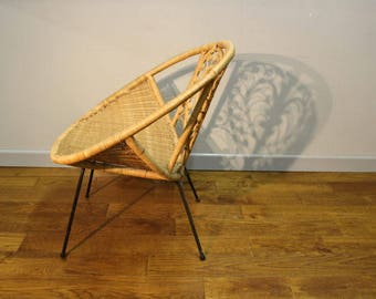 Lovely 1950's Vintage Wicker Chair