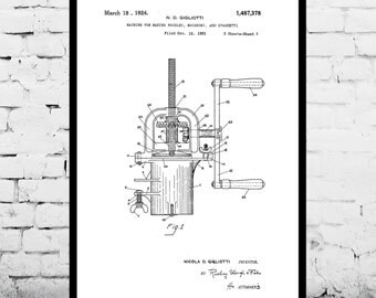 Blueprints etsy pasta maker patent pasta maker poster pasta maker blueprint pasta maker print malvernweather Choice Image