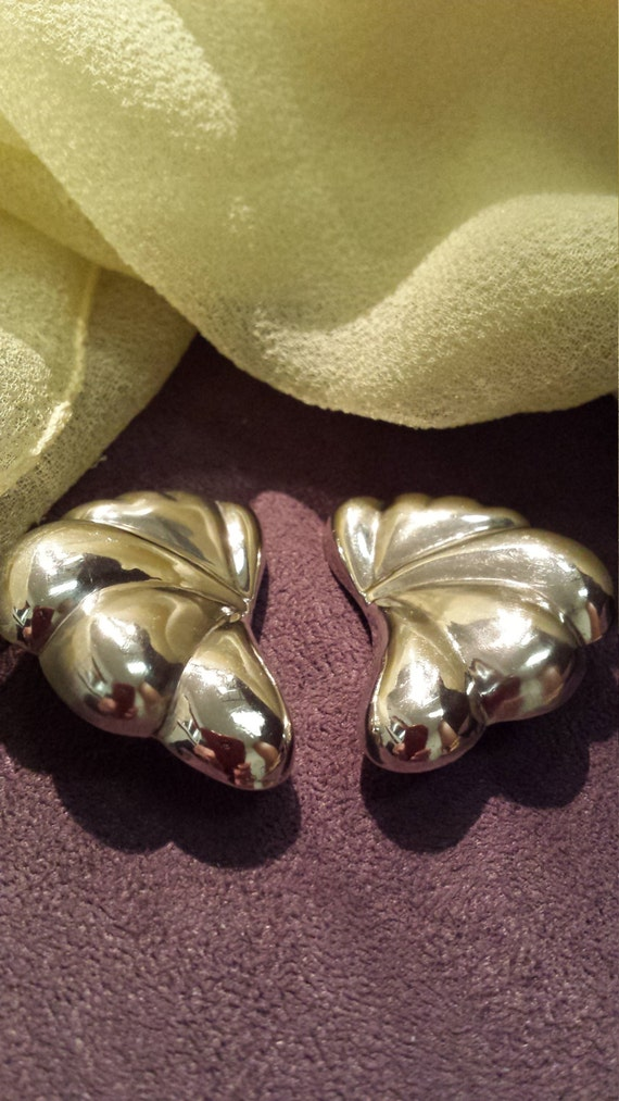 Sterling silver vintage clip on earrings