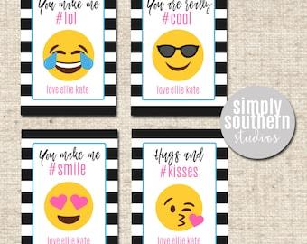 Personolized Emoji Valentine - Printable