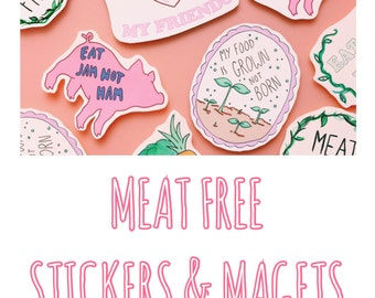 Meat Free Sticker Pack X6 / Magnet Pack