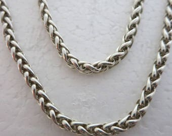 "015 ""Wheat"" Silver Chain Necklace 18"""