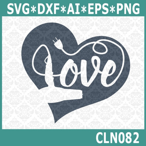 CLN082 Hairdryer Hair Stylist Love SVG DXF Ai Eps PNG Vector Instant Download Commercial Use Cutting File Cricut Explore Silhouette Cameo
