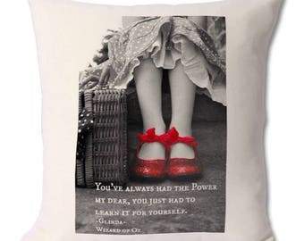 You always had the power my dear wizard of oz cushion ruby slippers 46 cm x 46cm gift for her home decor cover and pillow insert