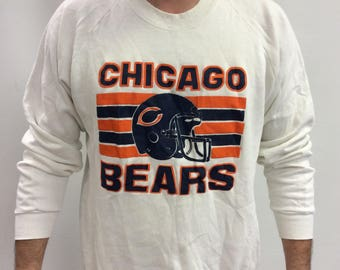 Rare Vintage Chicago Bears White Sweatshirt