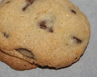 GLUTEN Free / SUGAR Free Chocolate Chip Cookies - One dozen, homemade, baked goods, edible gift, diet restricted dessert, teacher gift