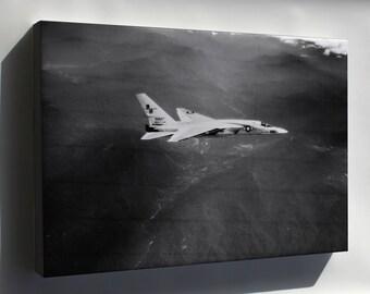 Canvas 24x36; Navy Ra-5C Vigilante  (Rvah-13) Bats In Flight 1966 P3