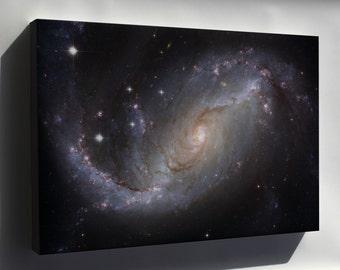 Canvas 24x36; Spiral Galaxy Ngc 1672 Hst