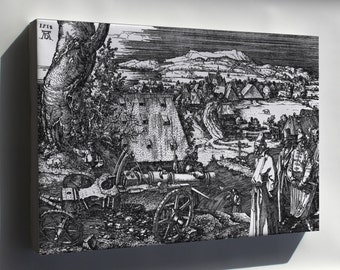 Canvas 24x36; The Cannon, Dürer'S Largest Etching, 1518