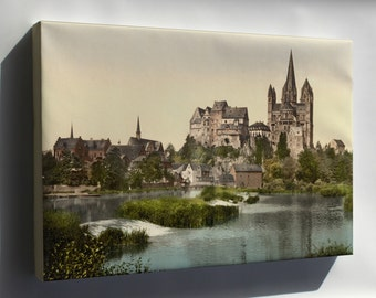 Canvas 24x36; Castle And Cathedral, Limburg, Hesse-Nassau, Germany 1890