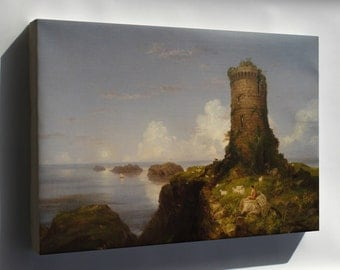 Canvas 24x36; Italian Coast Scene With Ruined Tower By Thomas Cole, 1838, Oil On Canvas National Gallery Of Art, Washington Dsc00053