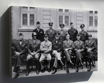 Canvas 24x36; U.S. Generals, World War Ii, Europe
