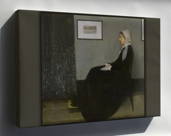 Canvas 24x36; Whistlers Mother By James Mcneill Whistler