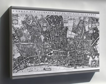 Canvas 16x24; City Of London Ogilby And Morgan'S Map Of 1677