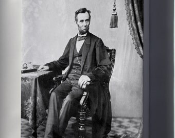 Canvas 16x24; Abraham Lincoln O 79 By Gardner, 1863 Bw