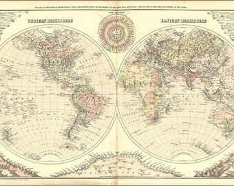 16x24 Poster; Map Of The World 1894