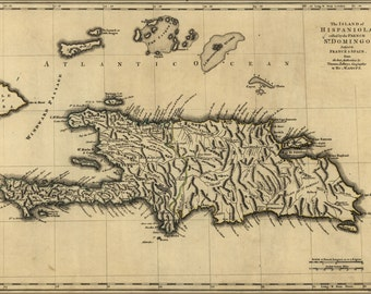 16x24 Poster; Map Of Island Of Hispaniola 1768