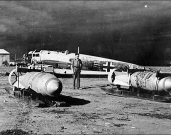 16x24 Poster; He 111 Wreck W Bombs Benghazi 1943