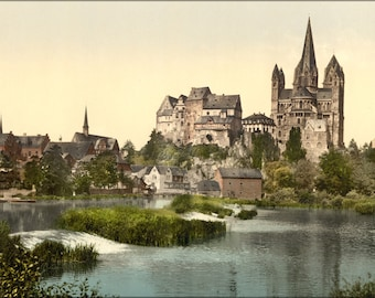 16x24 Poster; Castle And Cathedral, Limburg, Hesse-Nassau, Germany 1890