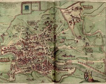 16x24 Poster; Map Of Rome 1570