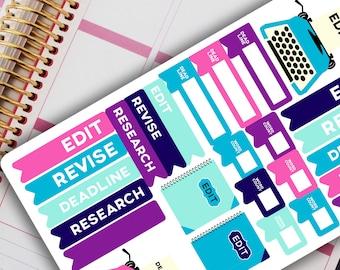 WRITER PLANNER STICKERS - Author / Writer / Book Planner Stickers