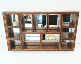 Wooden Shelves - Display Case - Display Shelf - Wood Shelf - Shadow Box - Wall Hanging - Vintage Wall Decor - Vintage Home Decor