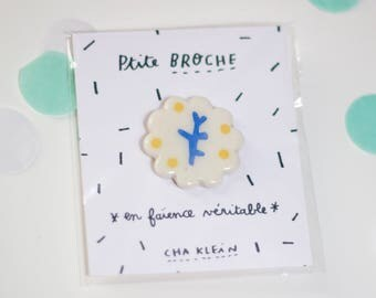 Brooch *Blue branch*