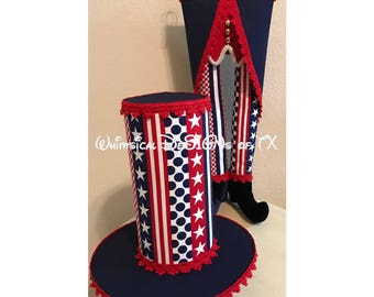 Uncle Sam Stars and Stripes Wreath Attachment Set