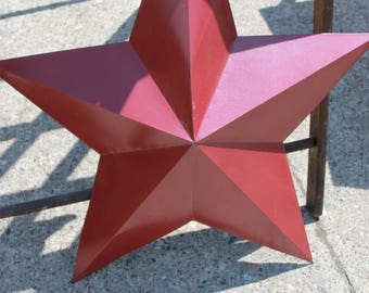 SOLD!!! Vintage Metal Oversized Red Star