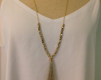 Gold Tassel Necklace