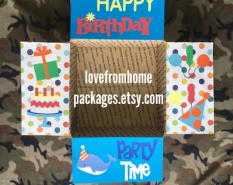 Birthday Care Package Flaps