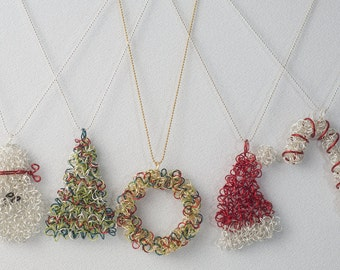 Wire Christmas Necklace