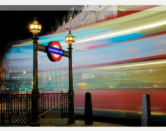 Piccadilly Circus Underground Station London. Canvas Art, Original Photography, Wall Art, Print, Wall Decor - Large Canvas multiple sizes