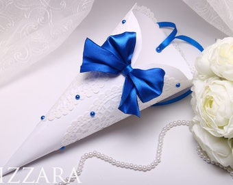10 Confetti cones Wedding royal Blue Wedding ideas Navy Blue Wedding Confetti paper cones petal cones wedding cones Wedding Petal Cones