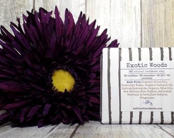 Exotic Woods – Natural Soap – Organic Soap – Natural Skincare – Vegan – Soap – Homemade Soap – Cold Process Soap – Soap For Men