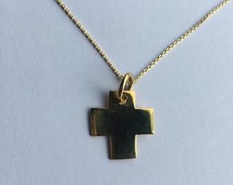 Silver Croce Necklace