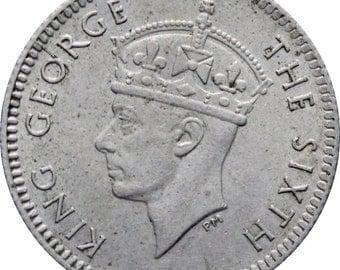 1948 Malaya 5 Cents George VI Coin