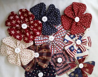 Flower Bowl Fillers -  Americana flower bowl fillers - Patriotic bowl fillers  - decorative fillers - flower tucks
