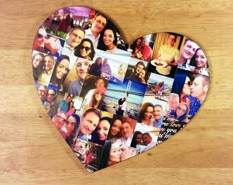 Photo Collage, Heart Photo Collage, Photo Collage Heart, Custom Photo Collage, Collage, Personal Photo Collage, Custom Photo Letters
